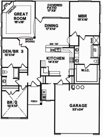 Chadwick floorplan citation homes inc for Chadwick house plan